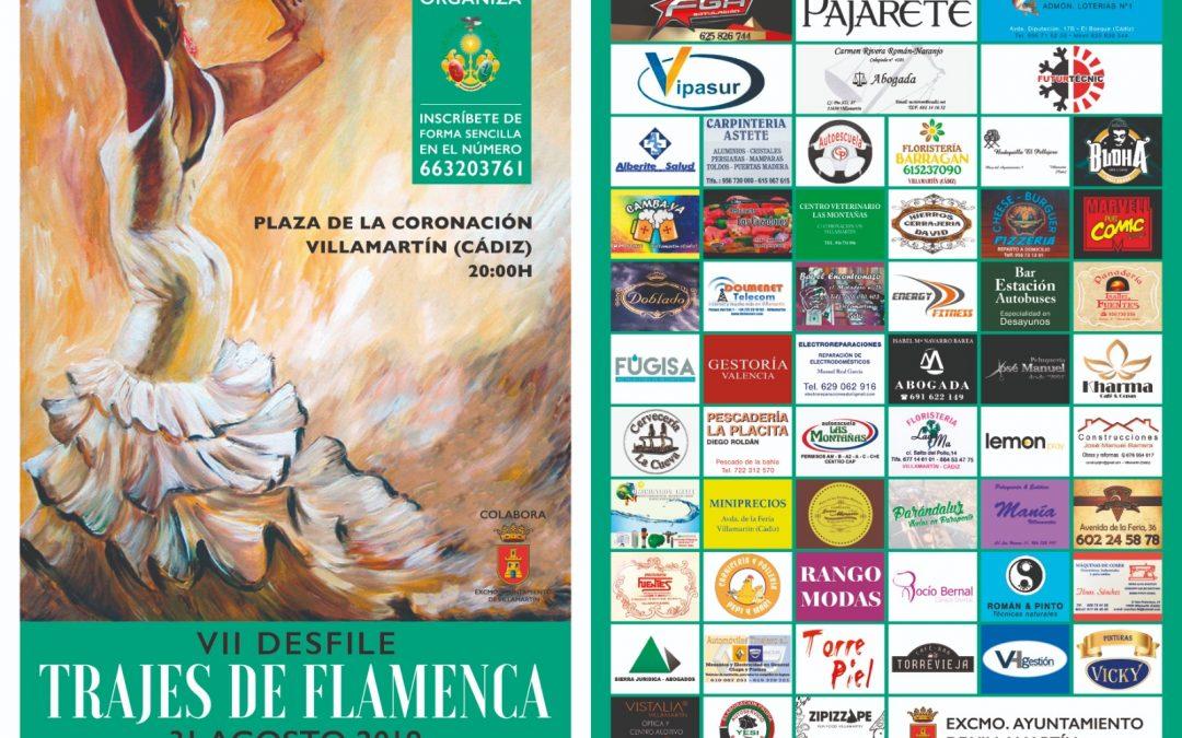 Cartel del Desfile de Trajes de Flamenca
